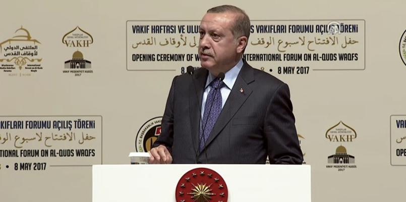 Cumhurbaşkanı'nın Kudüs Vakıfları Forumu konuşması